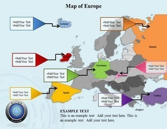 Highly usable PowerPoint Template of Europe Map | PowerPoint Maps Online | PowerPoint Maps | Scoop.it