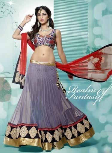 Buy online this Wedding Lehnga Choli In Gray with Mirror,Patchwork, Resham   Bridal Lehengas   Scoop.it