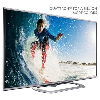 Review Sharp 60-Inch LE857 Class Aquos® Quattron 1080p 240Hz LED 3D HDTV | New Television Reviews | Scoop.it