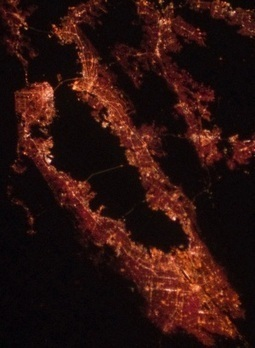 San Francisco on Christmas Eve, as seen from the International Space Station | San Francisco's Life | Scoop.it