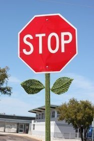 Yarn-bomber strikes in Clairemont, stopping traffic - U-T San Diego | Knitting, Crochet and Other Fiber Art | Scoop.it