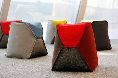 Beanbag Stools Filled with Recycled Bottle Caps - Design Milk | Industrial Design | Scoop.it