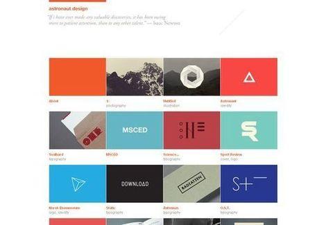 Single-Page Portfolio Websites Design Showcase | DzineBlog.com | E-Learning and Online Teaching | Scoop.it