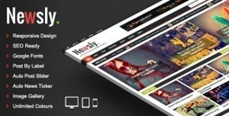 Download Newsly - Responsive Multipurpose Blogger Template | web | Scoop.it
