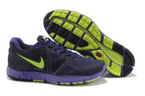 Mens Nike LunarGlide+ 3 NavyPurple-Neon Shoes | popular list | Scoop.it