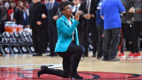 Anthem singer kneels midcourt at 76ers-Heat | Coffee Party Feminists | Scoop.it