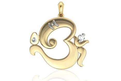 Buy Om Ganesh Gold Pendant | Diamond Jewellery India | Scoop.it