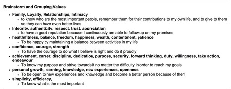 The Definitive Guide to Your Core Values | Daily Clippings | Scoop.it
