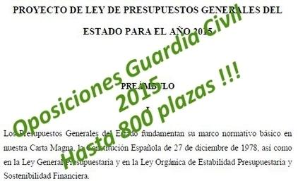 Oposiciones Guardia Civil 2015 - Hasta 800 plazas | Oposiciones | Scoop.it
