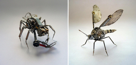 Old Watch Parts Transformed Into Spine-Chilling Little Creatures | 16s3d: Bestioles, opinions & pétitions | Scoop.it