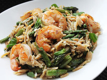 Skillet Shrimp with Orzo, Feta and Asparagus | Serious Eats : Recipes | SEAFOOD RECIPES | Scoop.it