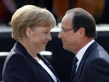 Chancellor Angela Merkel and President Francois Hollande's appeal for German-French unity to tackle Europe's ills lasted all of three hours as they disagreed over closer integration of the region's banking system.