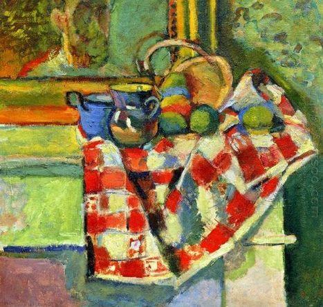 Todavía vida con un mantel a cuadros - Pintura al óleo | famous paintings gallery | Scoop.it