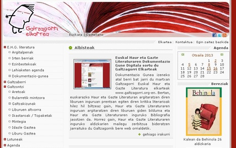 Euskal Haur eta Gazte Literaturaren Dokumentazio Gune Digitala sortu du Galtzagorri Elkarteak - by @Sustatu   informática   Scoop.it