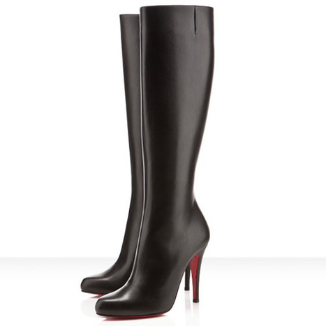 Christian Louboutin Zepita 100mm knee-high boots for women | christian louboutin boots knee high | Scoop.it