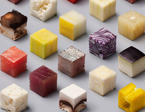 Artists Cut Raw Food Into 98 Perfect Cubes To Make Perfectionists Hungry | @FoodMeditations Time | Scoop.it