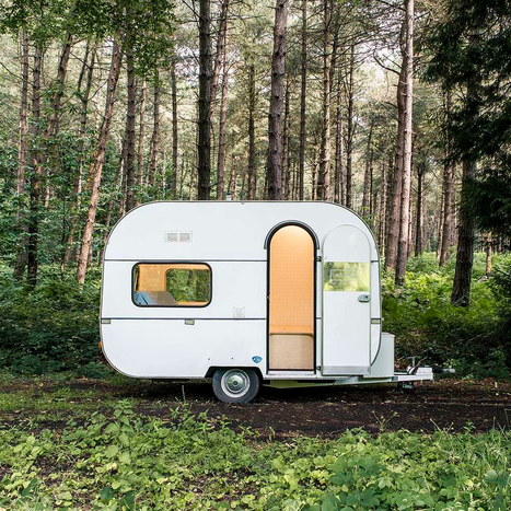 Five AM transforms caravan into mobile studio with pop-up table and pegboard walls | Agilité des espaces de travail | Scoop.it