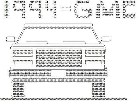 ASCII ART Photo: ASCII Vehicle from http://www.rigsofrods.com/threads/92456-ASCII-Vehicles-made-from-symbols | ASCII Art | Scoop.it