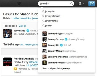 Twitter Upgrades Search With Autocomplete, 'People You Follow' Results   Serial Twitter   Scoop.it
