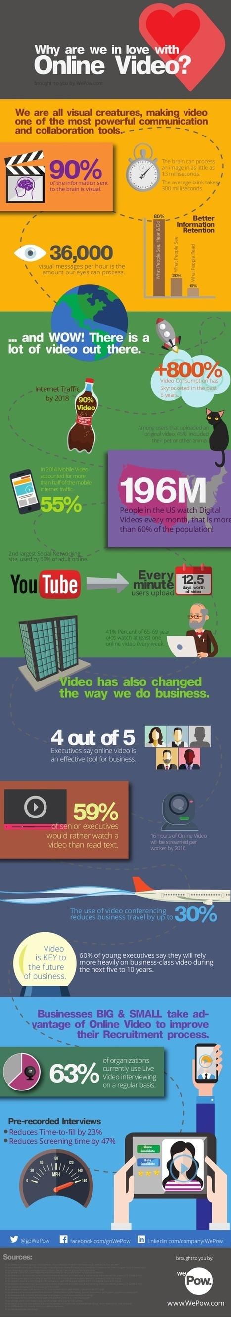 ¿Por qué adoramos el vídeo online? #infografia #infographic #socialmedia   Personal [e-]Learning Environments   Scoop.it