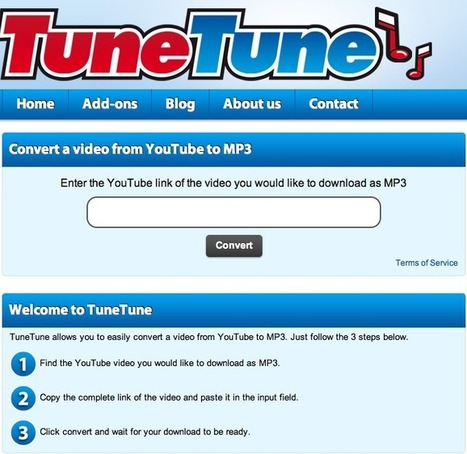 TuneTune - Convert a video from YouTube to MP3 | Animal Webcams | Scoop.it