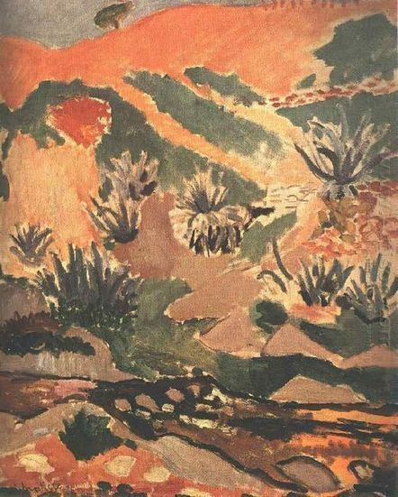 Oil painting reproduction: Henri Matisse Landscape With Brook Brook With Aloes 1907 - Artisoo.com | famous paintings gallery | Scoop.it