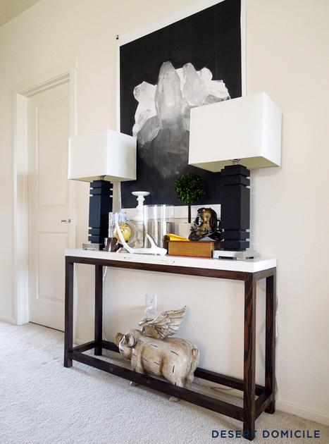 { DIY } Une console pour l'entrée à moins de 20€ | décoration & déco | Scoop.it