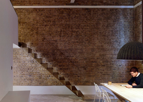 Bell Phillips installs folded steel staircase inside London apartment | architecture and psychology | Scoop.it