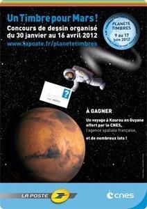 Dessine-moi un timbre pour Mars ! | Mars en août | Scoop.it