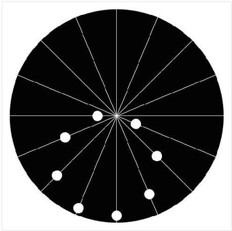Genial efecto óptico: los puntos se mueven en línea recta | Tecnologia | Scoop.it