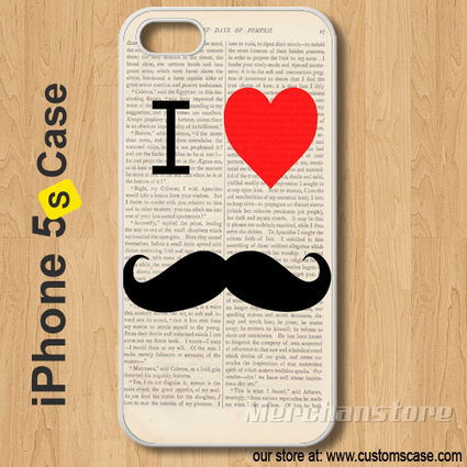 iPhone 5S Case Vintage I Love Mustaches Retro - Hard Cover | Merchanstore - Accessories on ArtFire | Technology | Scoop.it