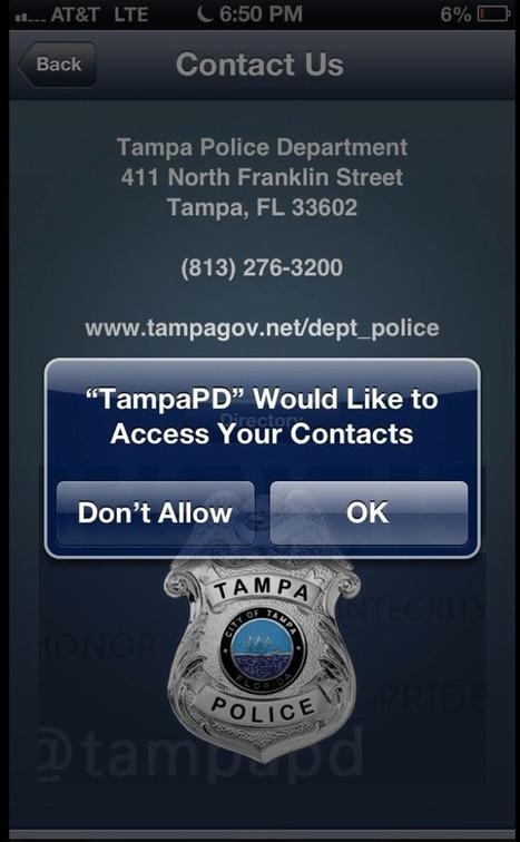 Kritische kijk op de nieuwe app van de Tampa Police Department #privacy | Apps in Law Enforcement | Scoop.it