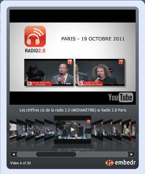 Revivez en vidéo toutes les présentations + débats des Rencontres Radio 2.0 Paris | Radio 2.0 (Esp) | Scoop.it