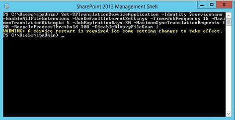 [SP2013] – Déployer le Machine Translation Service de SharePoint Server 2013 | #define infra | Scoop.it