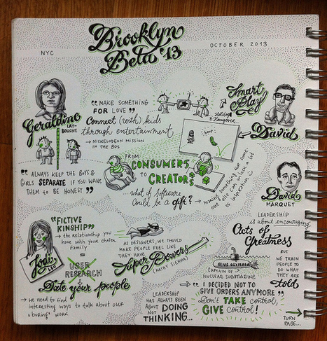Geraldine Laybourne, Jodi Leo & David Marquet @ Brooklyn Beta 2013 | SKETCHNOTING | Scoop.it