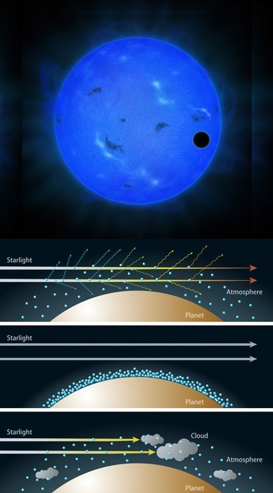 Blue Light Observations Indicate Water-Rich Atmosphere of a Super-Earth Exoplanet | Amazing Science | Scoop.it