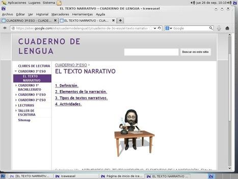 al BoRDe dE La LENGUA: Comenzamos a trabajar: EL TEXTO NARRATIVO 3º ESO   Un mar de letras   Scoop.it