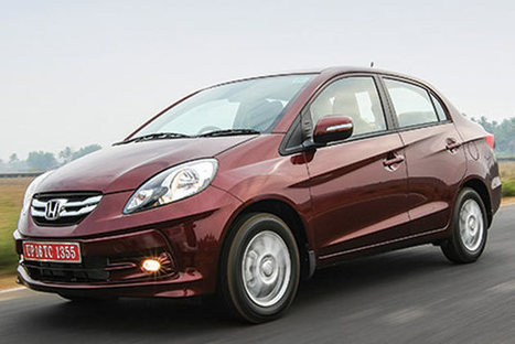Honda Amaze is 2014 CNBC TV-18 Overdrive Car of the Year | checkcarin | Scoop.it