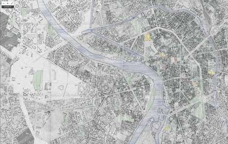 A hand drawn map of Toulouse | by Makina Corpus | StylingM@p | Scoop.it