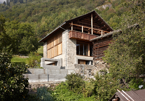 La decoración de una moderna granja en Suiza | AteBur | Scoop.it