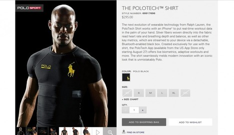 Ralph Lauren's new smart Polo shirts combine fashion and technology | Managing Technology and Talent for Learning & Innovation | Scoop.it