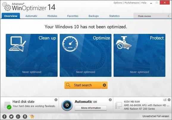 Ashampoo WinOptimizer 14 free software giveaway
