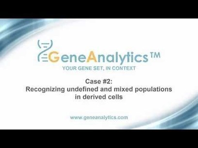 GenaAnalytics - Assessing stem cell differentiation protocols and evaluating derived cell fate | Stem Cells & Tissue Engineering | Scoop.it