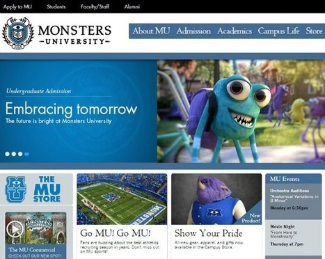 Disney Pixar's 'Monsters University' Gets a Quirky College Website | Transmedia: Storytelling for the Digital Age | Scoop.it