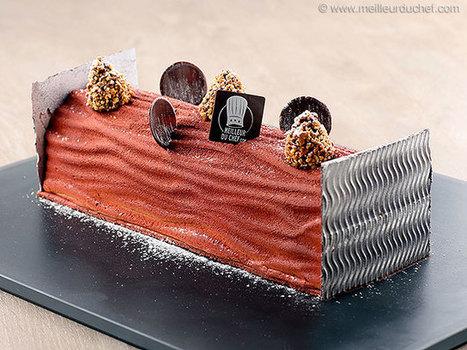 Bûche de Noël lactée caramel   Recettes de cuisine de Meilleur du Chef   Scoop.it