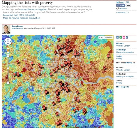 Mapping the UK riots with poverty | The Guardian [INFOGRAPHIC] | All about Data visualization | Scoop.it