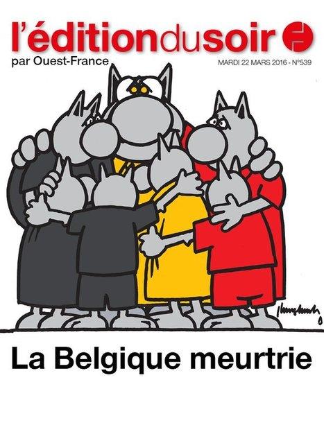 La Belgique meurtrie mais pas à genoux, dessin par Philippe Geluck   Dessins de Presse   Scoop.it