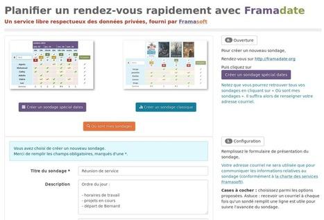 Framadate: un tuto et un openbar. | Coopération, libre et innovation sociale ouverte | Scoop.it