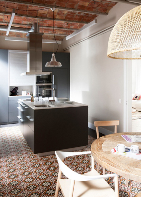 Contemporary kitchens with cement tiles | interior design | Scoop.it