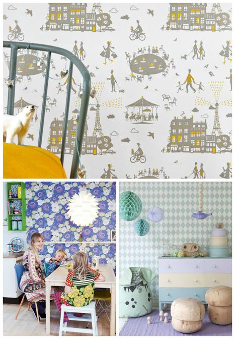 19 clever ways to transform a kid's room with wallpaper | Wee Birdy | Bedroom Wallpaper | Scoop.it